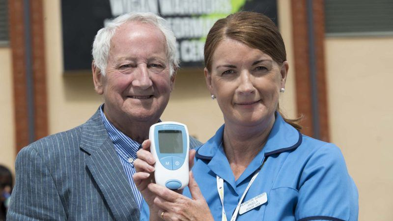John Binks and nurse show how easy the INR self-testing service is