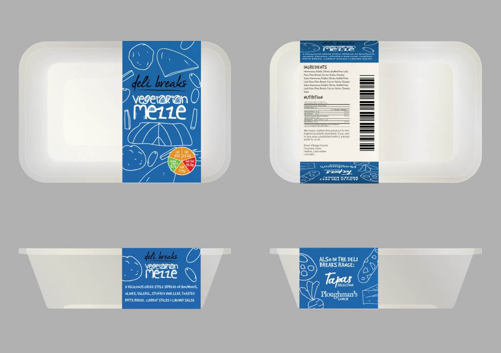 Deli Breaks product packaging Mezze