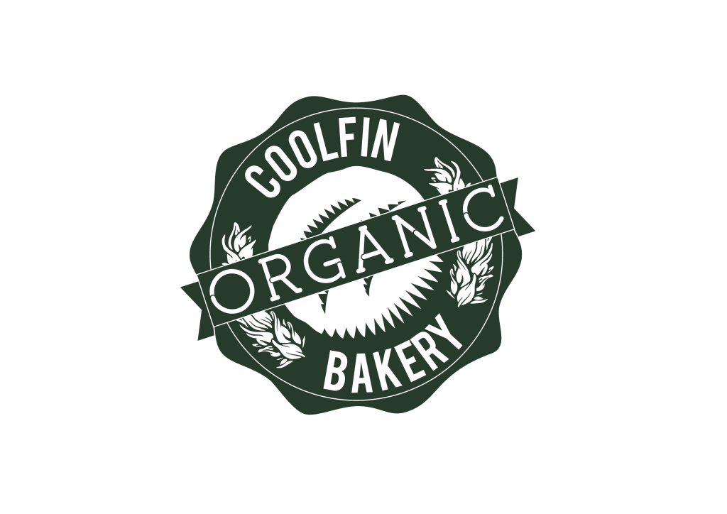 Coolfin Organic Bakery | Logo with transparency-green