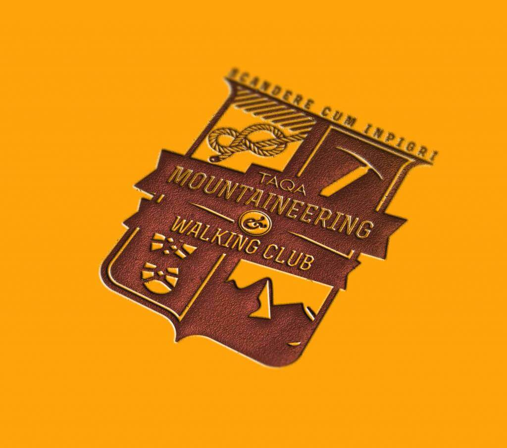 TAQA Mountaineering & Walking Club shield logo embossed