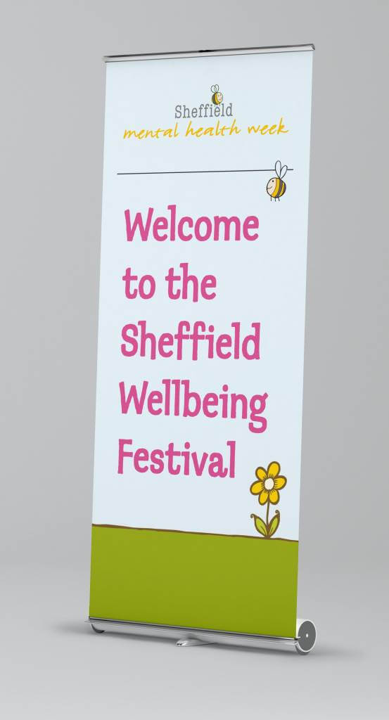 Wellfest banner (Sheffield Mental Health Week)