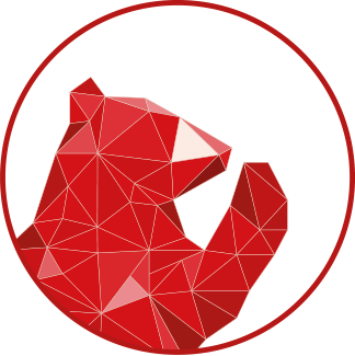 Red Bear Social icon logo