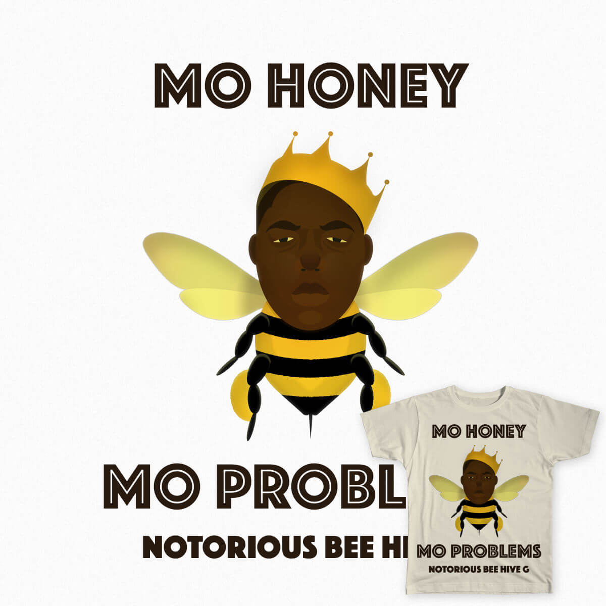 Mo Honey Mo Problems tee mockup