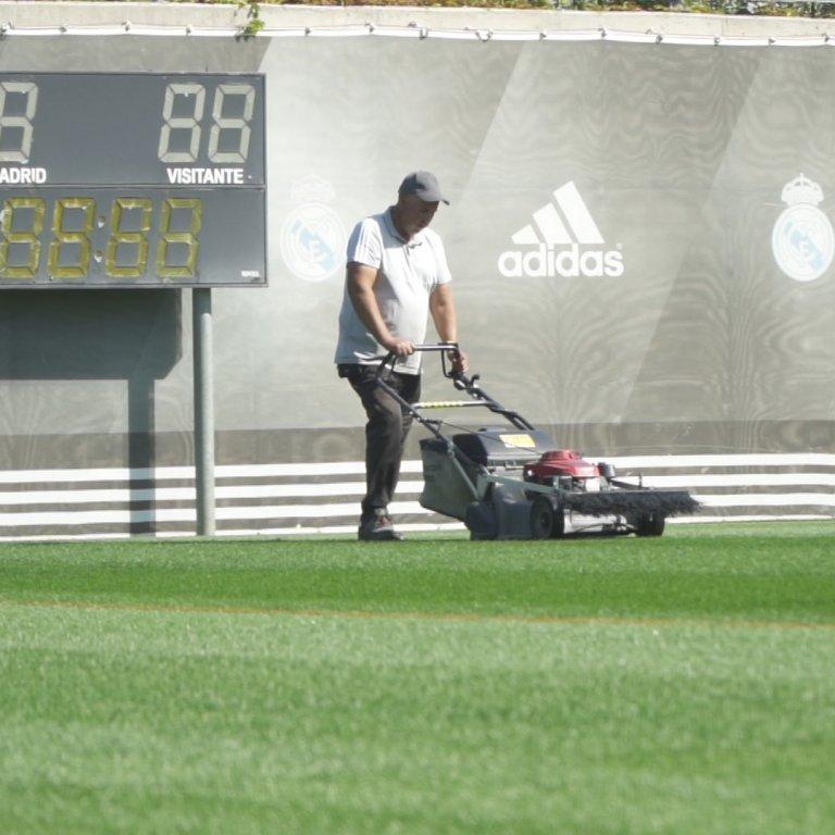 groundsman maintenance Real Madrid football club