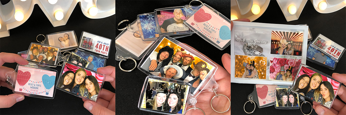Photo Booth Keyrings and Fridge Magnets