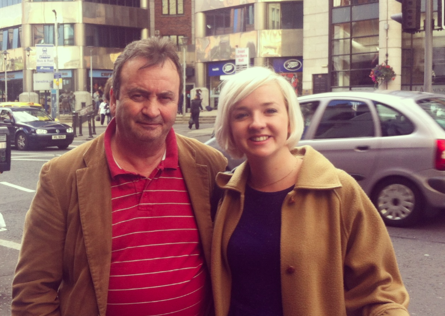 Gerry Conlon with Mary-Rachel McCabe in Belfast