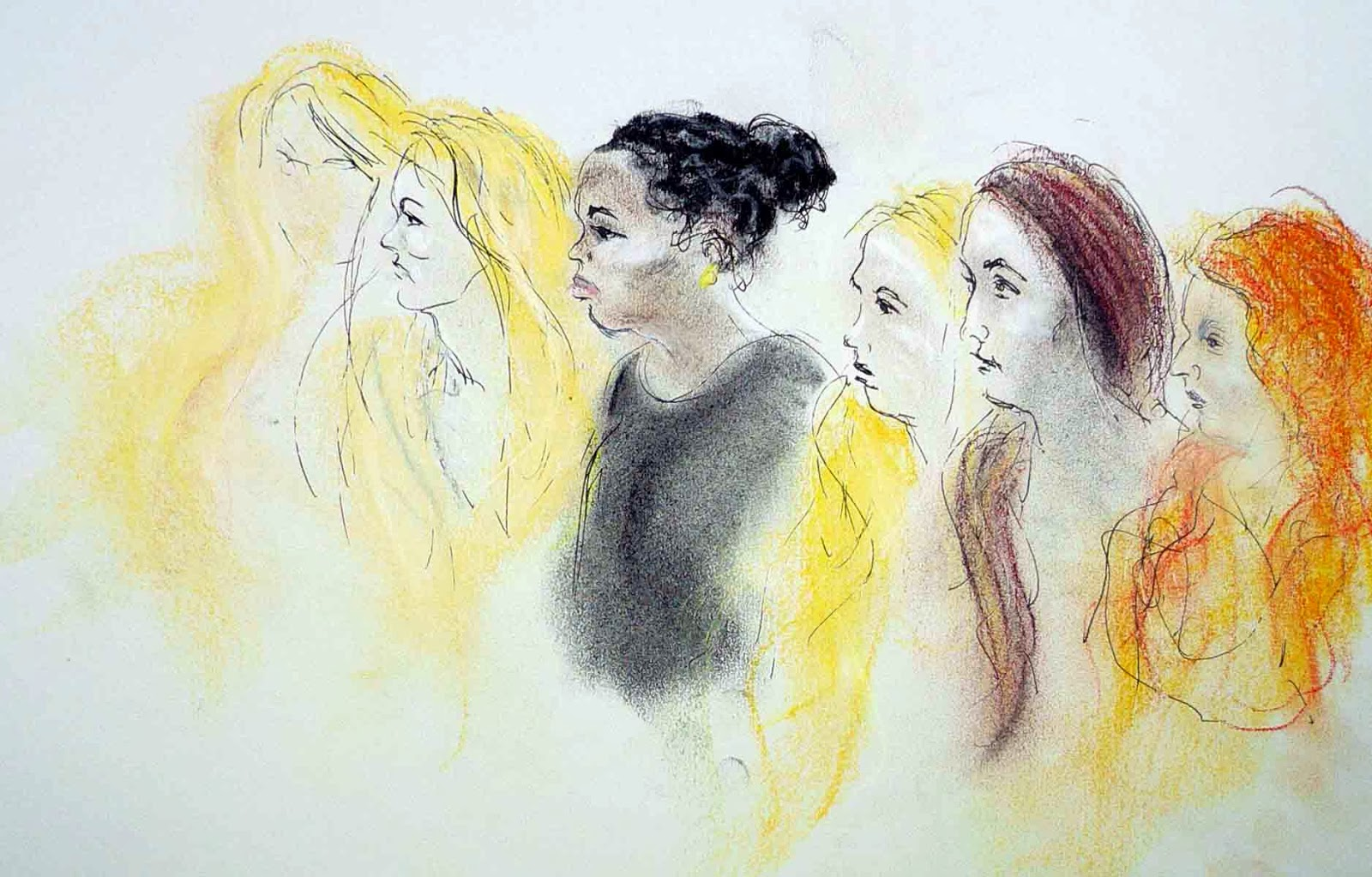 The public gallery in the Supreme Court: Sketch by Isobel Williams (www.isobelwilliams.org.uk)