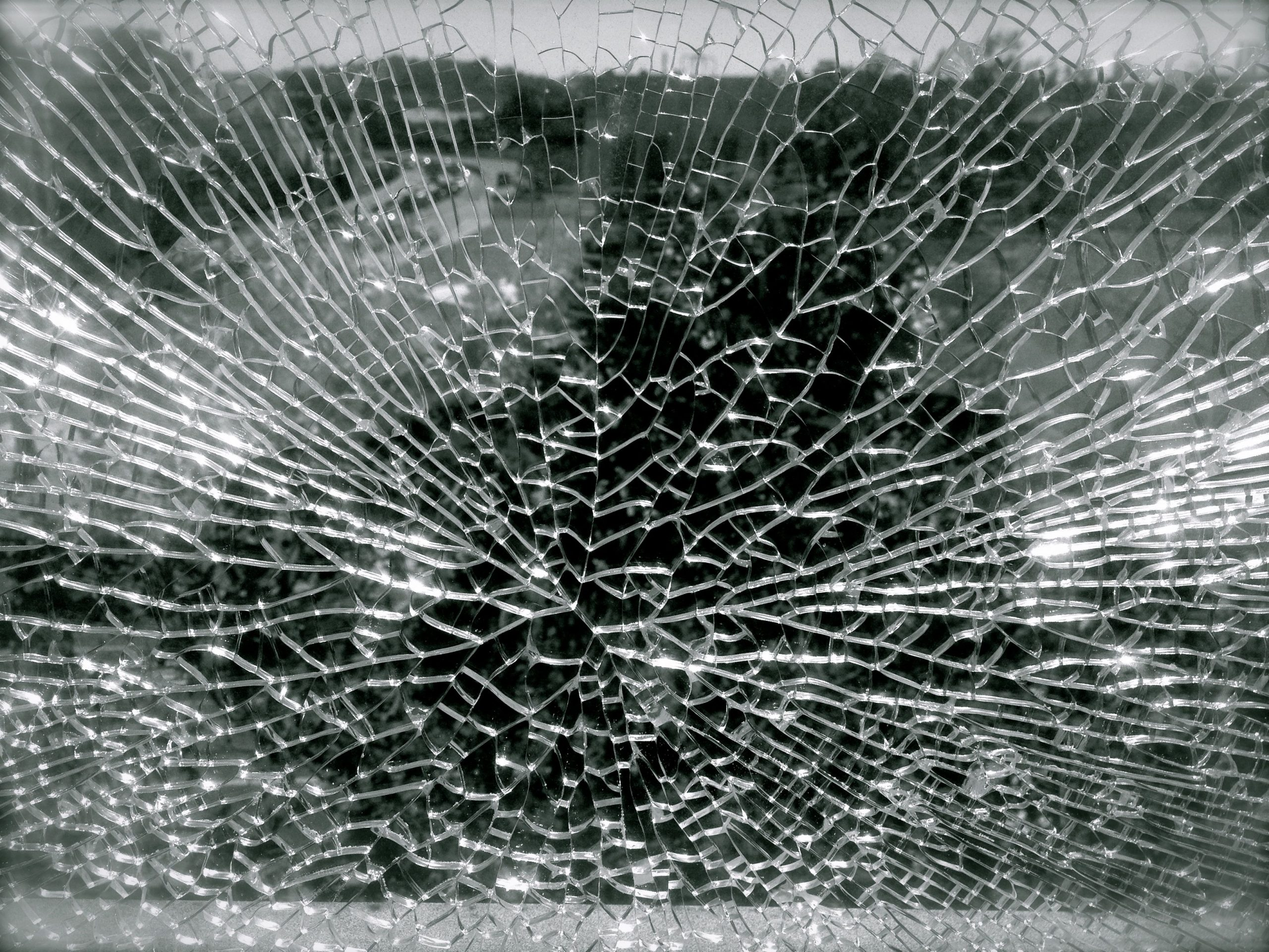 Broken window, from Flickr by Lynn Friedmann