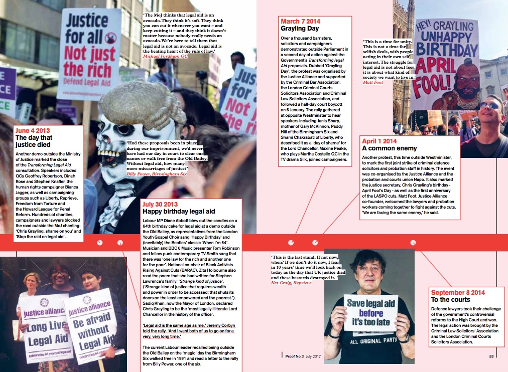 From Proof magazine 3, Justice Alliance