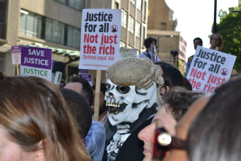 'Justice for all': Justice alliance demo protesting the legal aid cuts