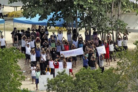 Manus Island protest - from Green Left Weekly