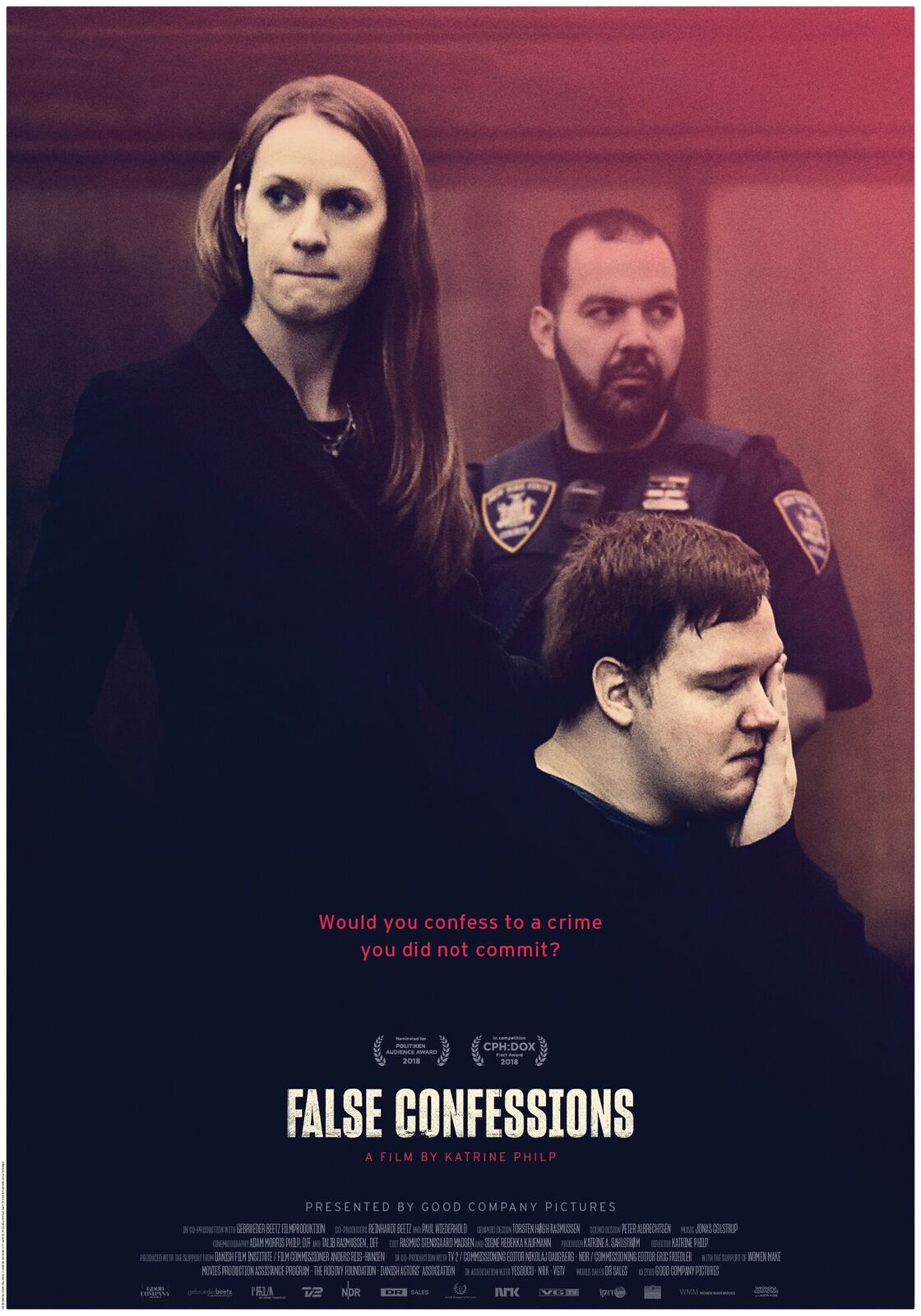 False confessions poster: exploring why innocent people confess to crime they didn't commit