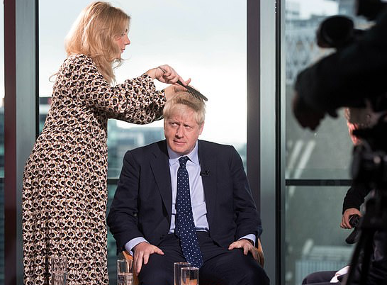 Boris Johnson preparing for appearance on the Andrew Marr show