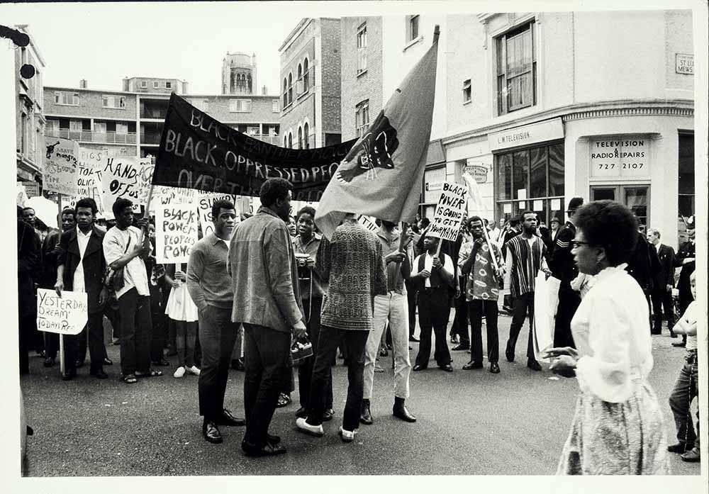 Black Power demonstration, Notting Hill 1970. National Archives