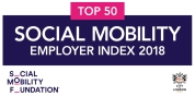 Top 50 Social Mobility Employer Index 2018 award