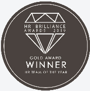 Gold at the BOC awards for the 'HR Team of the year' category 2020