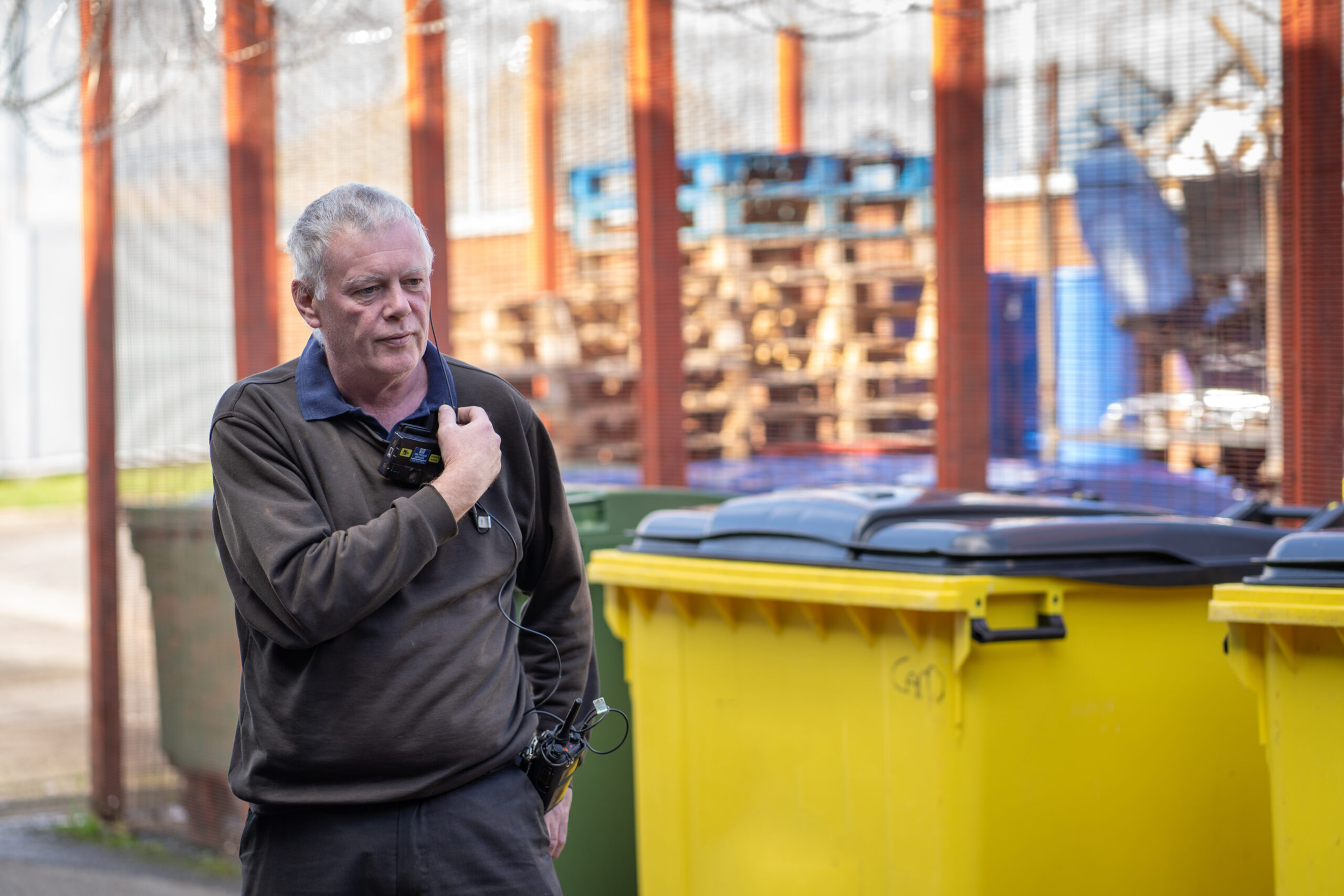 Adrian Noel who runs the waste management and recycling department at HMP Featherstone