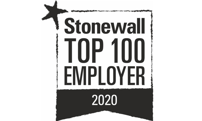 Stonewall Top 100 Employer 2020 Logo