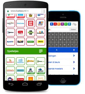 Mobiele startpagina - Kadaza