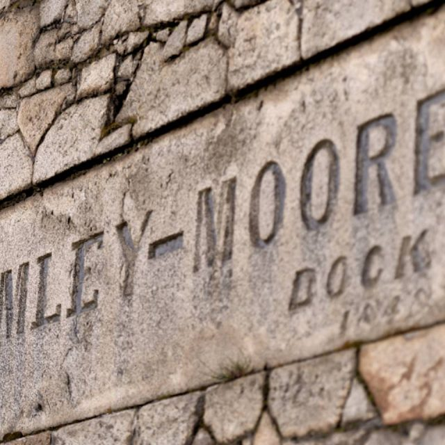 Bramley-Moore Dock wall sign