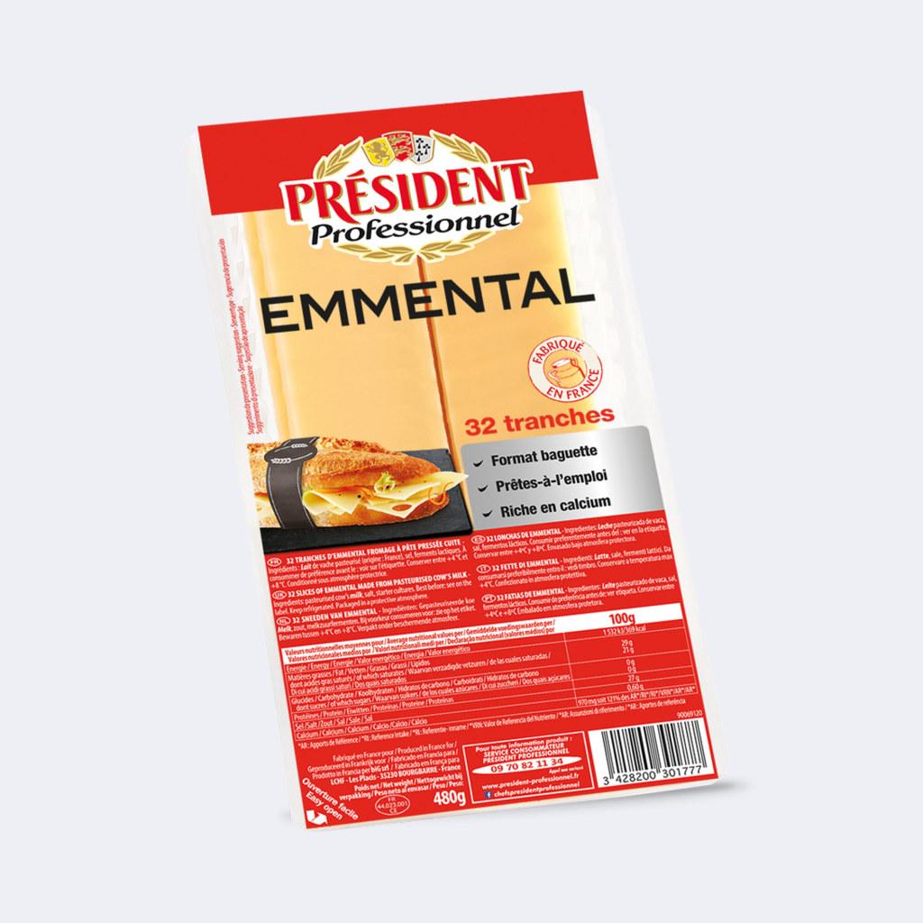 President Emmental Slices Lactalis Professional Foodservice