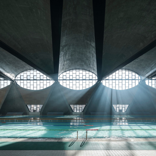 Architectural Photography Awards winner 2017, Terrence Zhang image of Swimming Pool, New Campus of Tianjin, University of China