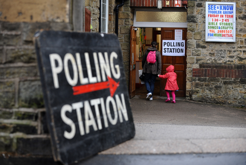 Photo of polling station