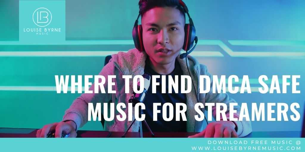 gamer with headset searching for DMCA safe music