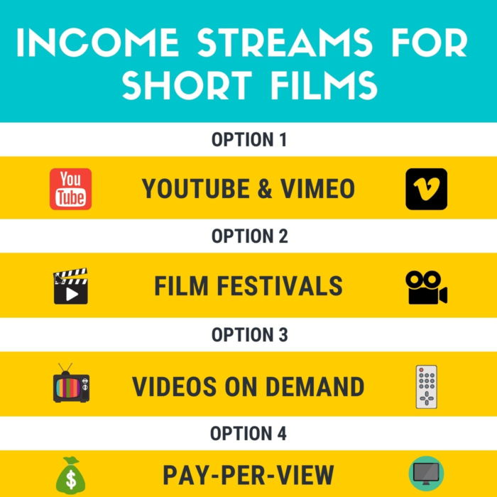 infographic of income streams for short film makers
