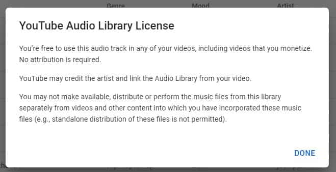 YouTube Music Licence