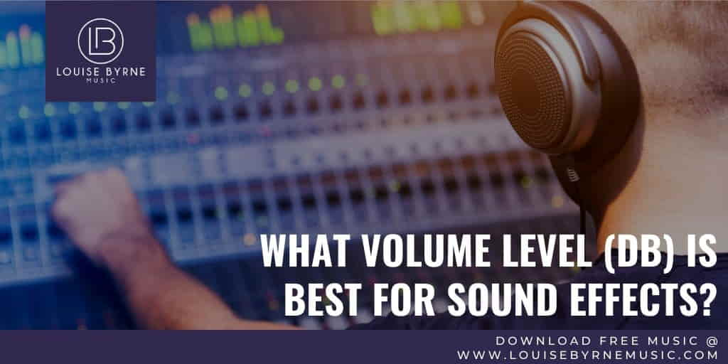 mixing desk with sound effects db level