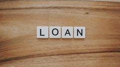 Loan in letter tiles