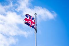 Union Jack on flagpole