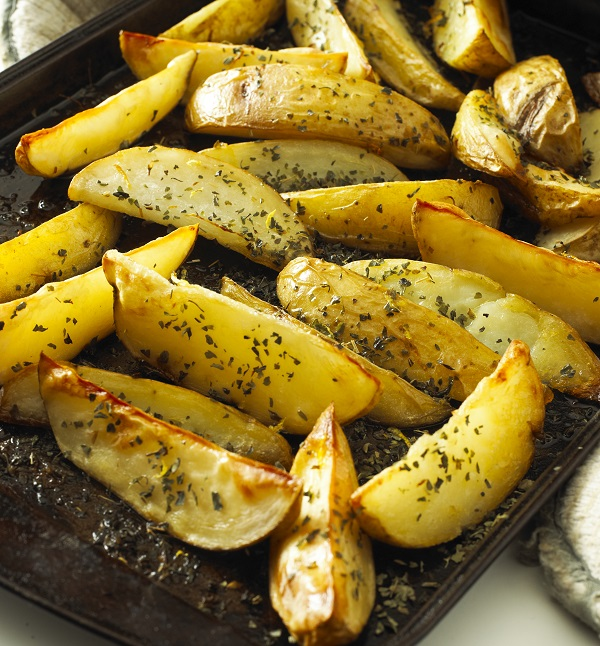 Roasted Lemon and Herb Potato Wedges