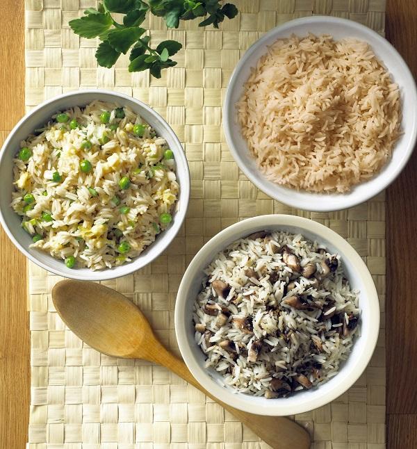 Rice (Plain, Egg Fried and Mushroom)