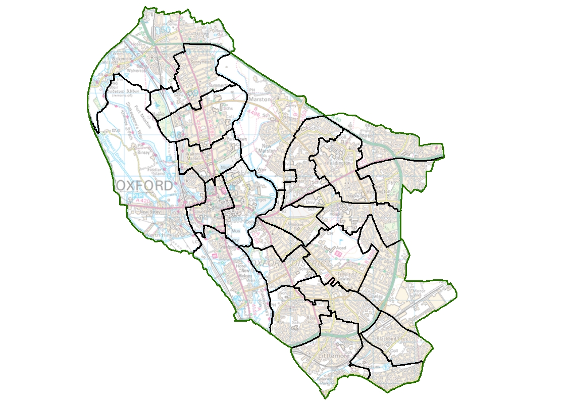 Oxford Ward Map