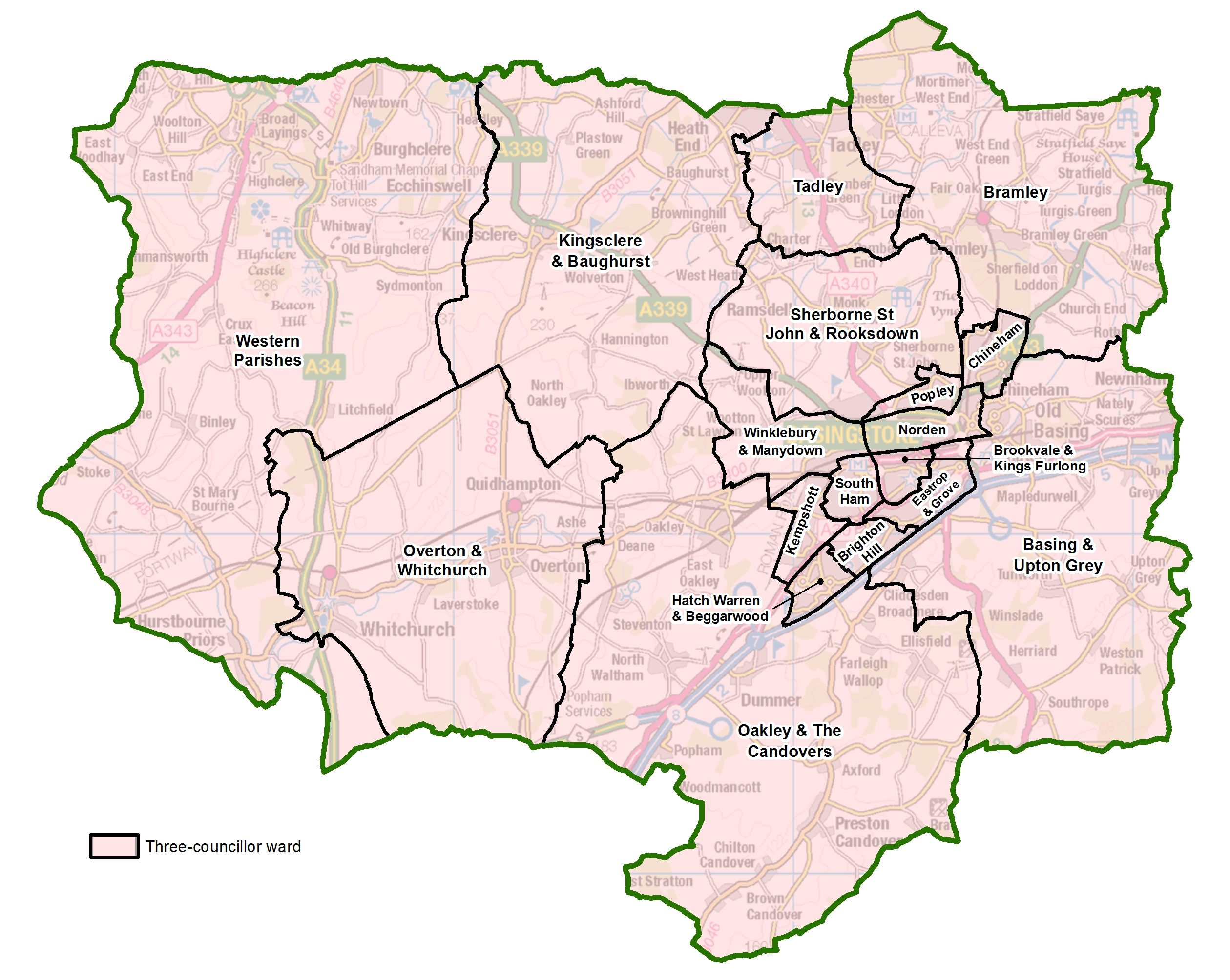 Map Of Basingstoke Have your say on new political map of Basingstoke and Deane