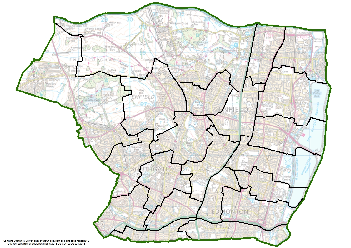 Political Map Of Enfield Set To Change Lgbce Site