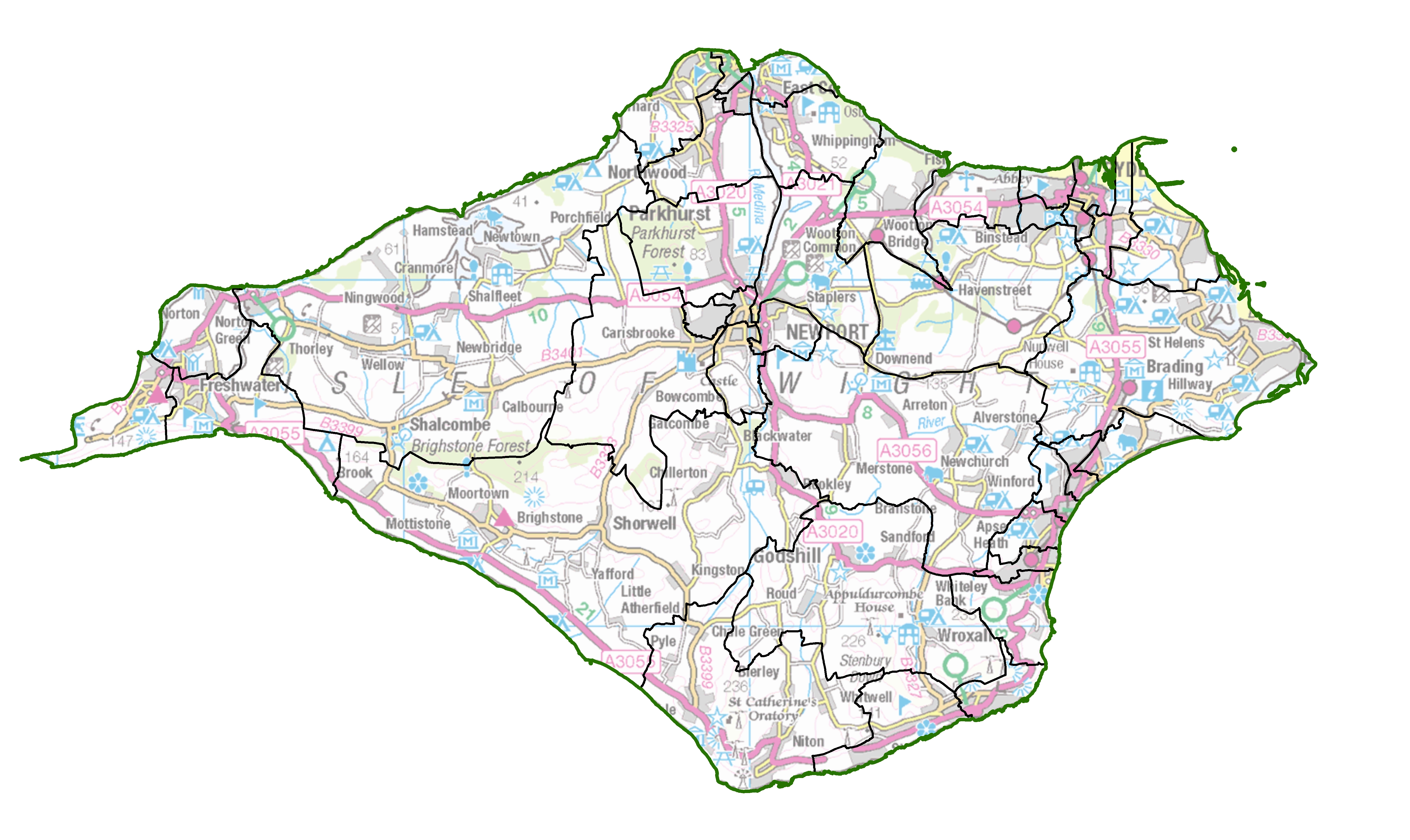 Map Of Isle Of Wight Political map of Isle of Wight set to change | LGBCE Site Map Of Isle Of Wight