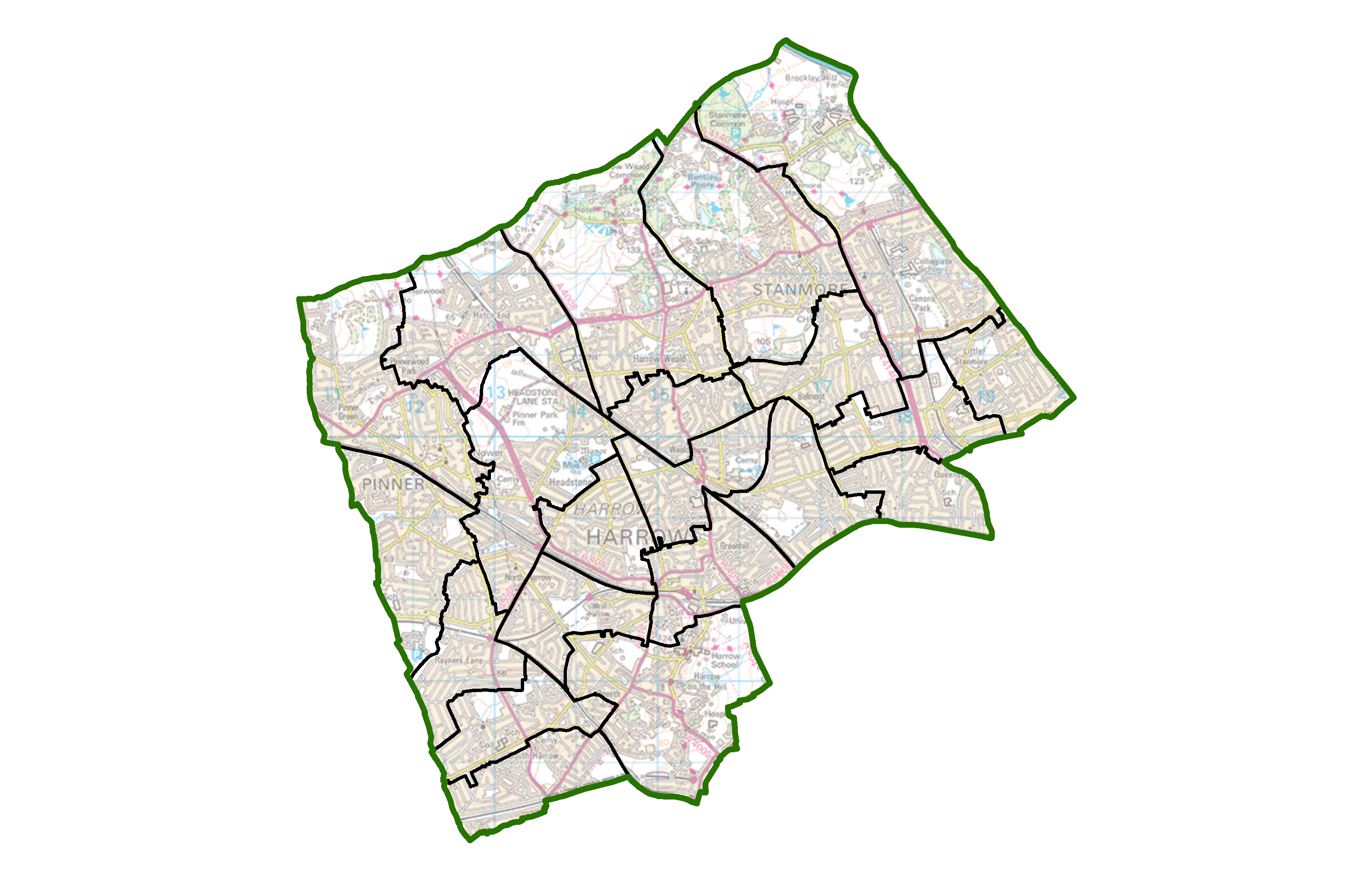 Map Of Harrow Political map of Harrow set to change | LGBCE Site Map Of Harrow