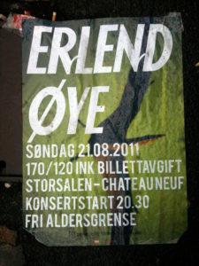 Erlend Øye tour poster