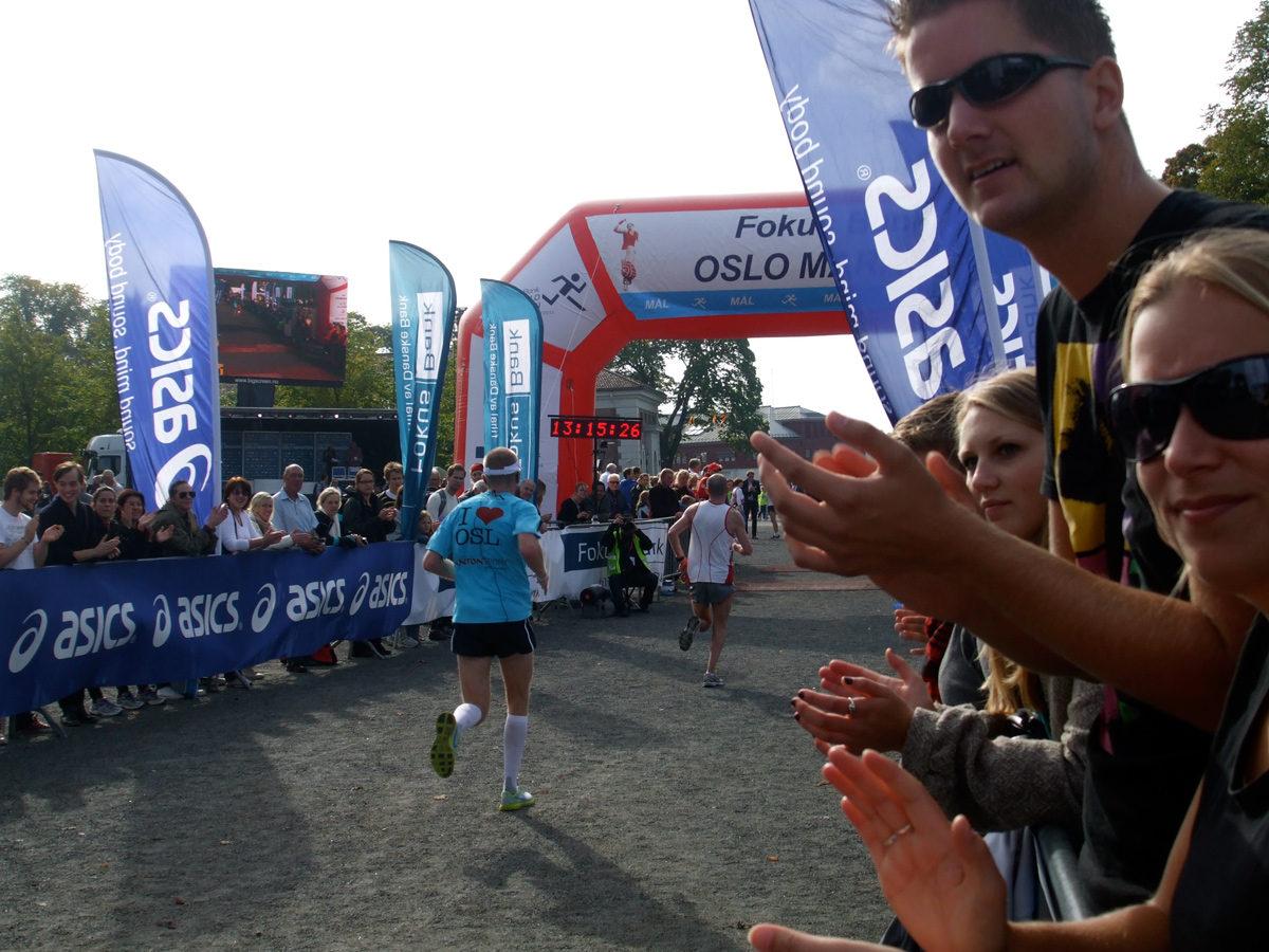 Finish line at the Oslo Maraton 2011