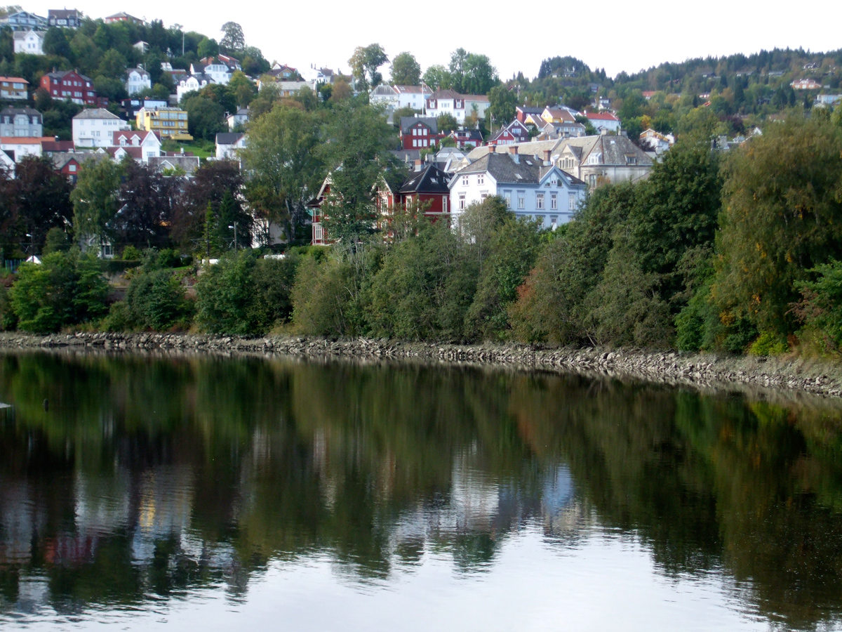 The river through the centre of Trondheim