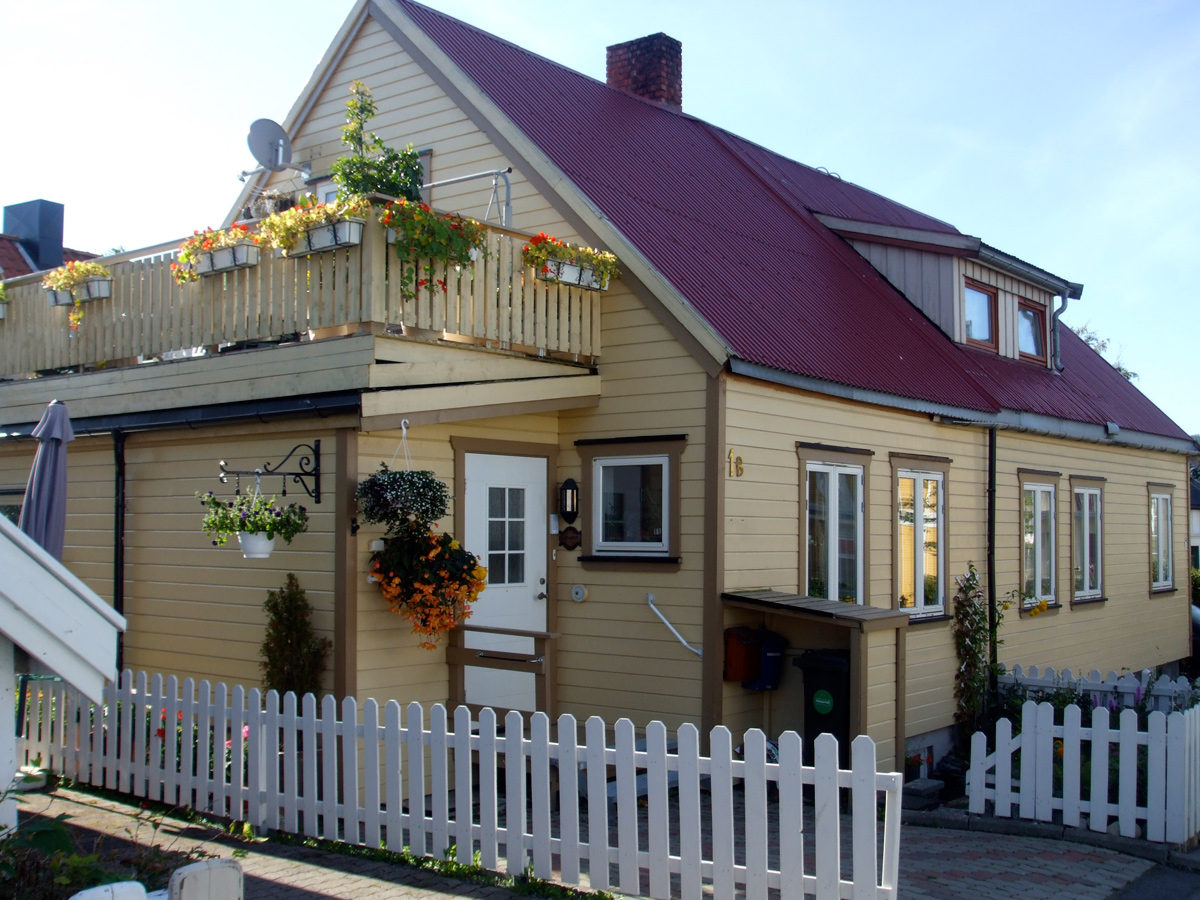 Coloured wooden house in Trondheim