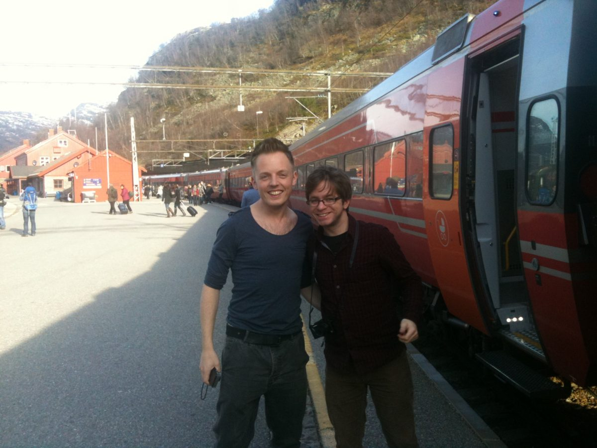 Graham and Chris on the Oslo to Bergen line
