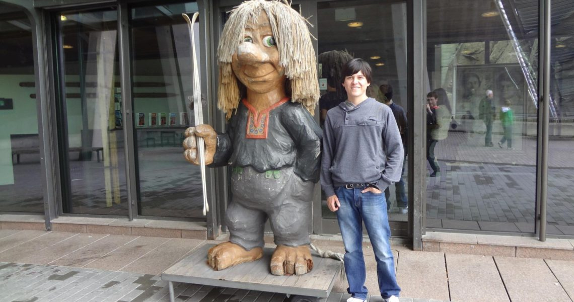 Gerry with a Norwegian troll