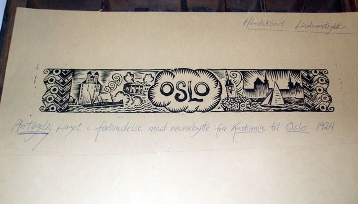 Oslo print using old fashioned methods