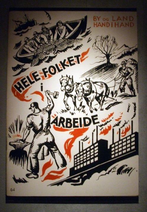Retro Norwegian political poster