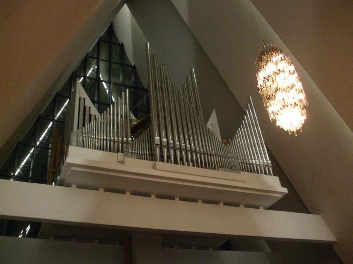Organ Pipes inside Tromsdalen Church