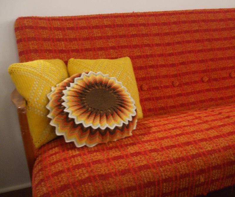 Retro sofa in Tromso, Norway